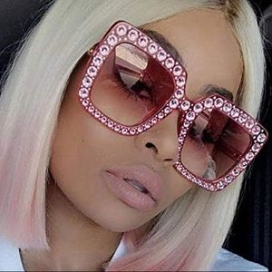 💫THE NYC ISTA PINK W/PINK OVERSIZED SUNGLASSES